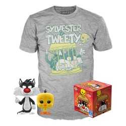 Looney Tunes - POP! & T-Shirt Sylvester and Tweety Funko figure