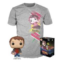 Back to the Future - POP! & T-Shirt Marty with Hoverboard Funko figure