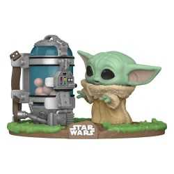 Figurine Funko Star Wars: The Mandalorian - The Child with Egg Canister POP! Deluxe