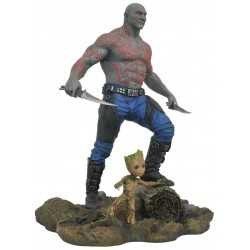 Figura en PVC Diamond Select Guardianes de la Galaxia Vol. 2 - Marvel Gallery Drax & Baby Groot