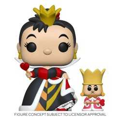 Figurine Funko Disney Alice au Pays des Merveilles - Queen with King POP! & Buddy