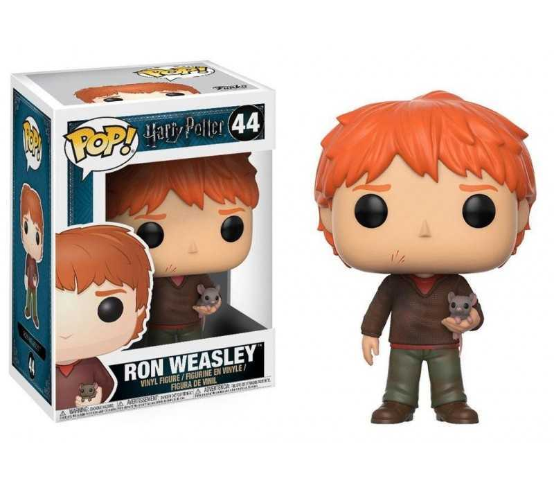 Figurine Harry Potter - Ron Weasley with Scabbers POP!