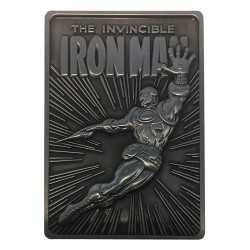 Plaque décorative Fanatik Marvel - Lingot Iron Man Limited Edition