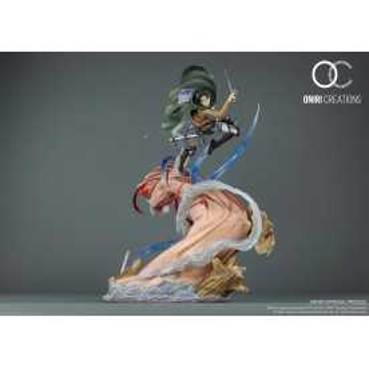 Attack on Titan - Levi VS Female Titan Oniri figure 2