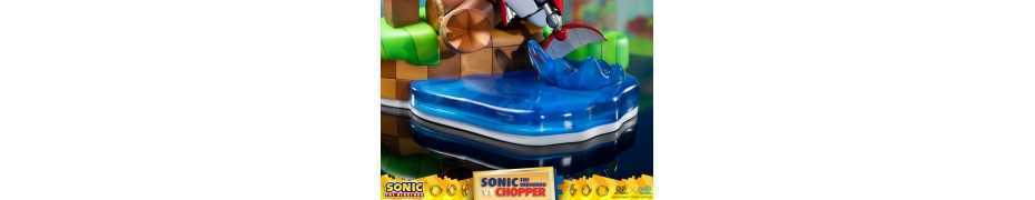 Figurine Sonic Generations - Sonic The Hedgehog vs Chopper Diorama 26