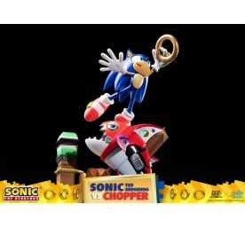 Figurine Sonic Generations - Sonic The Hedgehog vs Chopper Diorama 32