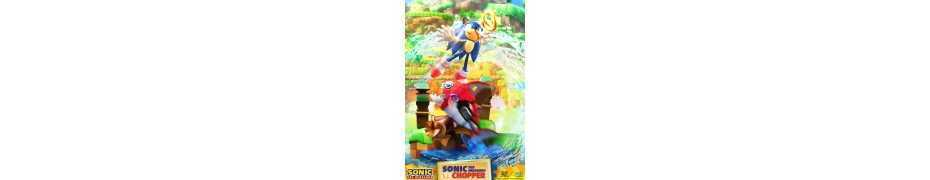 Figurine Sonic Generations - Sonic The Hedgehog vs Chopper Diorama