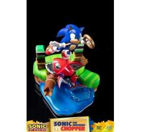 Sonic Generations - Sonic The Hedgehog vs Chopper Diorama figure 36