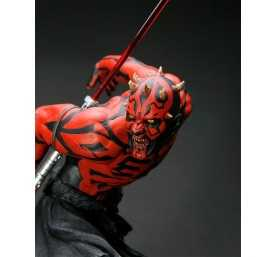 Figurine Star Wars - ARTFX Darth Maul Japanese Ukiyo-E Style Light-Up Edition 8