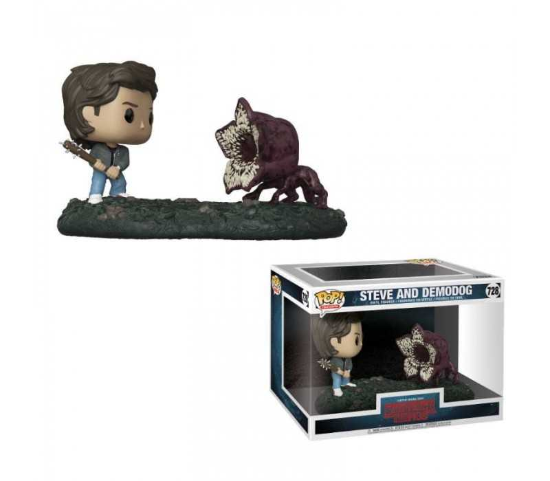 Figurine Stranger Things - Movie Moments Steve & Demodog POP!
