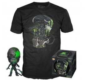 Figurine Pop + T-Shirt Alien - POP! & T-Shirt 40th Xenomorph Exclusive