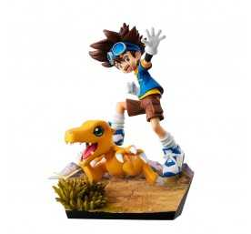 Figurine Digimon Adventure - G.E.M. Series Taichi Yagami & Agumon 20th Anniversary