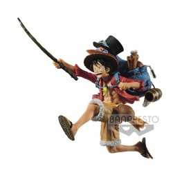 One Piece - Three Brothers Monkey D. Luffy figure