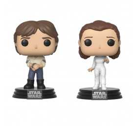 Star Wars - Pack Han & Leia Empire Strikes Back 40th Anniversary POP! Funko Figure