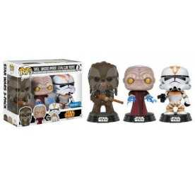 Star Wars - Pack 3 POP! Tarfful, Unhooded Emperor and Utapau Clone Troope Funko Figure