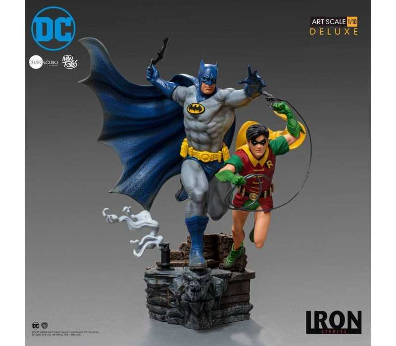 DC Comics - Deluxe Art Scale Batman & Robin by Ivan Reis Iron Studios figure