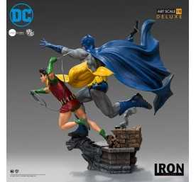 DC Comics - Deluxe Art Scale Batman & Robin by Ivan Reis Iron Studios figure 4