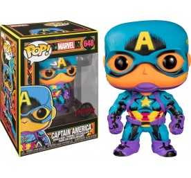 Figurine Funko Marvel - Black Light Captain America POP!