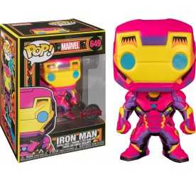 Figurine Funko Marvel - Black Light Iron Man POP!