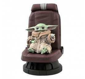 Figurine Gentle Giant Star Wars The Mandalorian - Premier Collection Bébé Yoda sur son siège