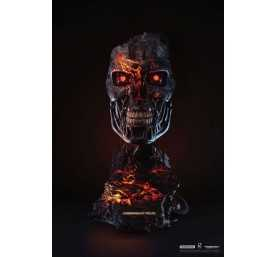 Figura Pure Arts Terminator 2: el juicio final - T-800 Endoskeleton Battle Damaged Version