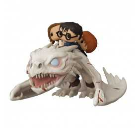 Figurine Funko Harry Potter - Dragon avec Harry, Hermione et Ron POP! Rides